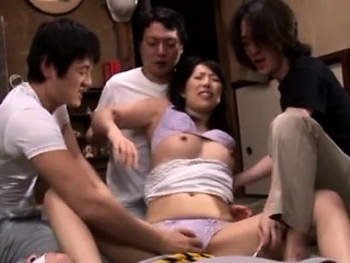 Delightsome grown-up lover gives mamma wank plus mamma mad about