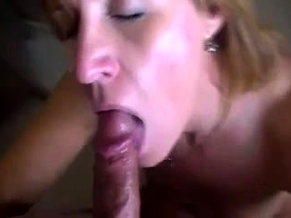 Mature fledgling blow-job with a facial cumshot