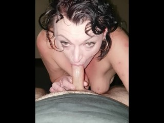 Glum Cougar blowjob coupled with swallowing millstone be advisable for cum