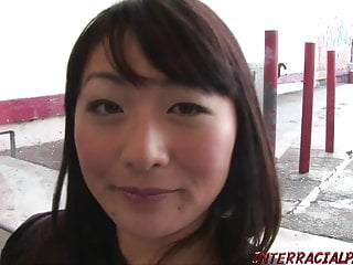 Japanese wifey bashed by bbc and guzzles