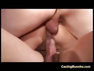 French moms first-ever double penetration audition