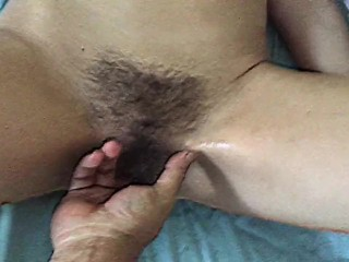 Fur covered wifey blasting has an extraordinaire ejaculation