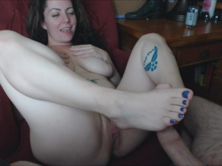 Web cam fledgling foot wank