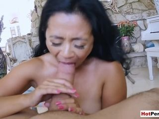 Pounding my diminutive boobed chinese mature stepmothers cunt