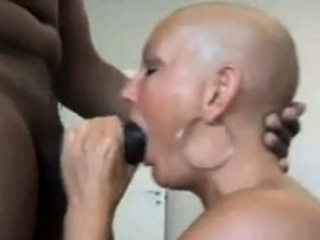 Smoothly-shaven mature blowing ample boner - steaming