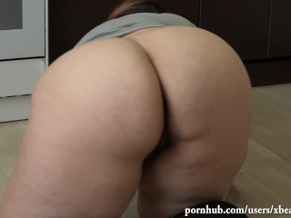 Luxurious plus-size with phat butt, butt fucking climax with marking. Wooly snatch