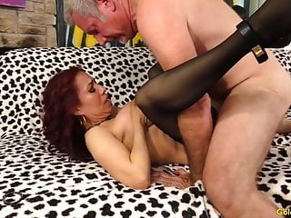 Naughty elder Latina Claudia Fox Blows and rails a ginormous bone