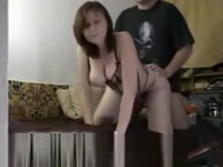 Huge-boobed wifey In harness rails That cock
