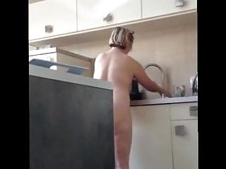 Mature plumper wifey with enormous hooters enormous caboose in the Kitchen