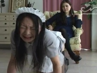 Chinese maid croping