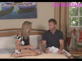 Blond stepmother gets boned by her step sonny