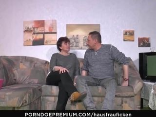 HAUSFRAU FICKEN - perforated adult seduces moustache defy