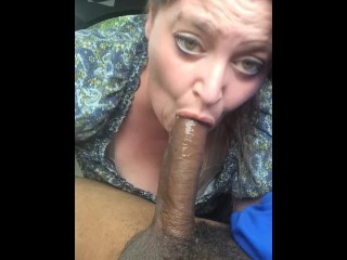 Plus-size deepthroating big black cock on lunch break 2
