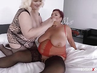 Extraordinary mature girl-girl plus-size hook-up