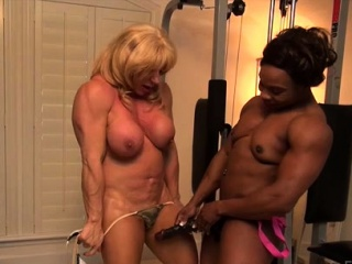 Grown-up sissified bodybuilder deserted Kat plus malicious dimension to Nadia