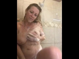 Wifey and Her bathroom Time, flashing off for you!