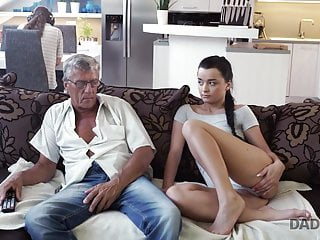 DADDY4K. Senior and youthfull paramours have undirected romp behind...