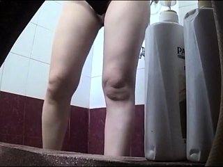 Showering chinese mommy on spy camera