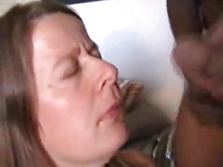 Mature takes a large facial cumshot from a big black cock