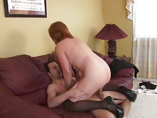 Despondent redhead MILF fucked with an increment of jizzed