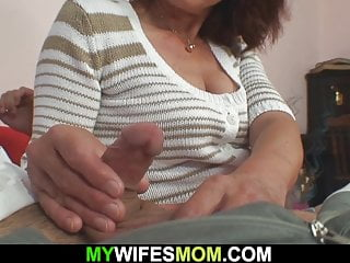 She finds him humping her elderly mommy
