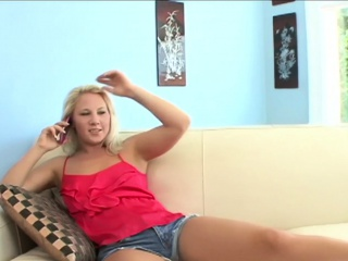 Lusty step-mother tears up all youthful blond slots with her tongue