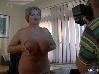 Mature plumper Takes A explosion On Her giant inborn udders - Mature'NDirty