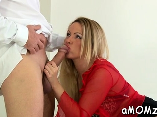 Lusty mama reveals her humid soddening labia for hard-core ravage