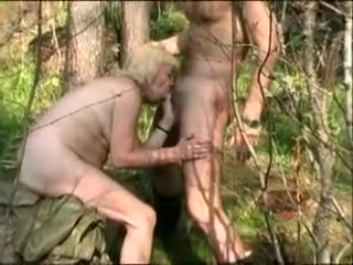 Hottest bush-leaguer peel surrounding chunky pair, open-air scenes