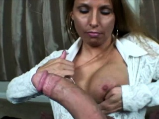 Mature Uses Hands, Mouth and Tits