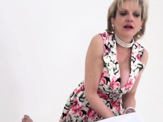 Unfaithful british milf lady sonia pops out her huge melons