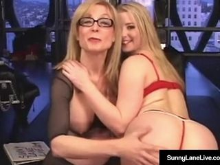 Junior Sunny Lane penalized By nearly grandma Nina Hartley!