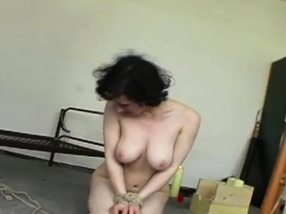 Sloppy super-bitch gets teat and vag torture from a mistress