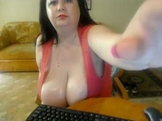Fat milf on every side colossal steamed up breasts