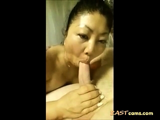 Full-grown Asian tie the knot Sucking dig up