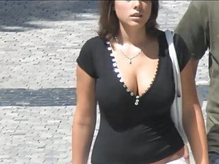 Fat boobies on the street - 007