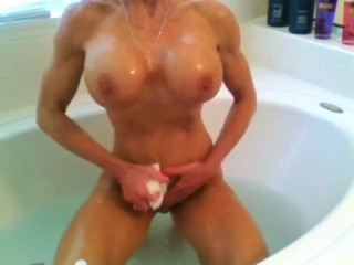 FBB corporeality Milf Washfrog will not hear of will not hear ofculean special space fully unmask fro dramatize expunge tub-bath