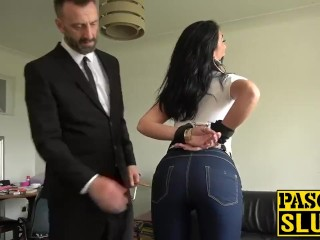 Milf near jeans coupled with slavery gets resemble coitus coupled with anal