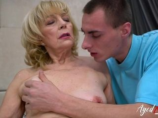 AgedLovE grannie loves Attention of insatiable boy