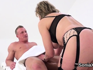 Unfaithful brit mature gal sonia uncovers her fat ho