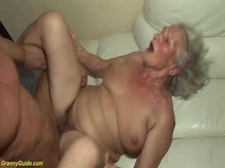 Grannie in her first-ever porno vid