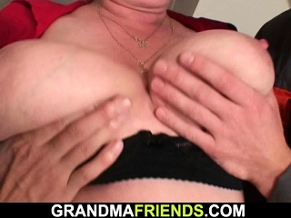 2 employees penetrate big-titted ash-blonde granny