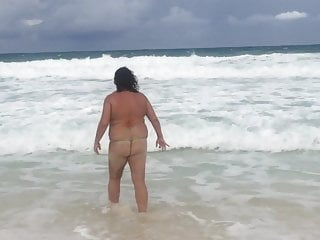 Inexperienced wifey in G rope swimsuit on Cancun beach