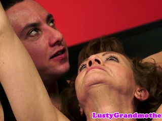 Euro grandma not far from queasy pussy gets assfucked