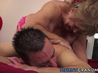 Elderly nipper masseuse fucked