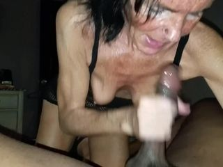 Gilf raw hand job on big black cock