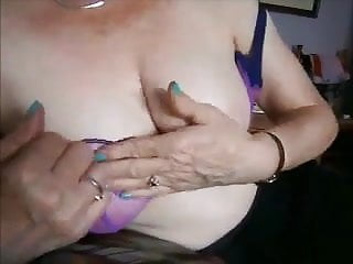 Huge-titted mature neighbour frolicking with her good-sized knockers