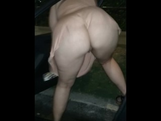 Enormous red-haired phat ass white girl fuckslut dirty dances jiggly booty Outside Of truck ♠