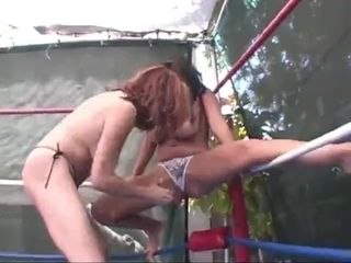 Big-titted Nature grappling