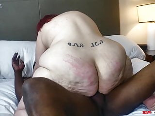 Mr Stixx humps a ginormous caboose phat ass white girl grandmother on BBWhighway
